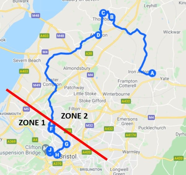 Hopper 1 Map with zones